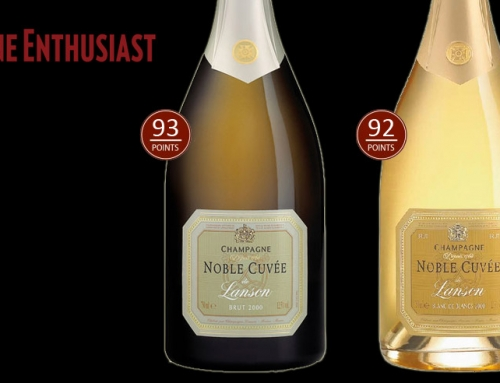 Wine Enthusiast 93 and 92 points for Champagne Lanson Noble Cuvée Brut and Noble Cuvée Blanc de Blancs Brut