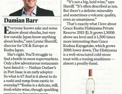 Grace Koshu Hishiyama Vineyard 2015 @ The Sunday Times Magazine